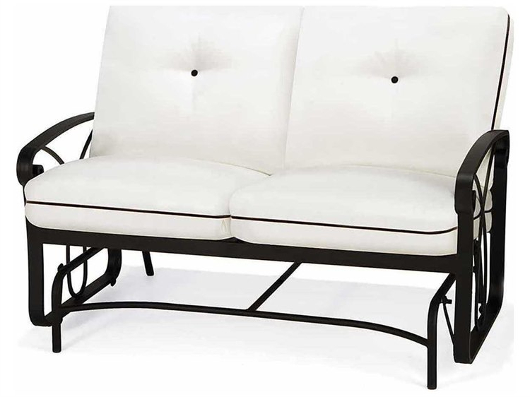 Aluminum Glider Benches With Cushion Intended For Well Liked Winston Palazzo Cushion Cast Aluminum Arm Loveseat Glider (View 6 of 20)