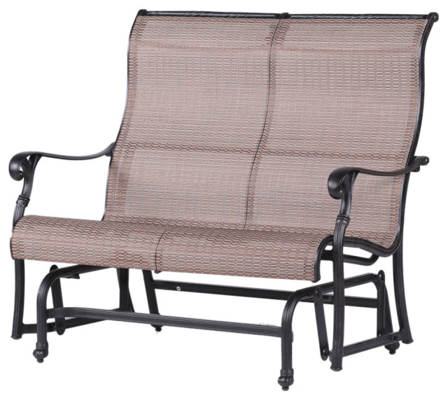 Aluminum Glider Benches With Cushion With Well Liked Stinson Sling Double Glider, Outdoor Metal Glider (View 18 of 20)