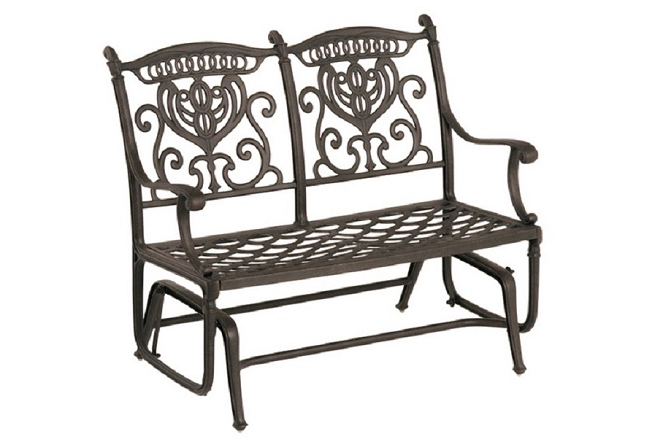 Aluminum Outdoor Double Glider Benches Inside Well Known Grand Tuscanyhanamint Cast Aluminum Double Patio Glider (View 11 of 20)