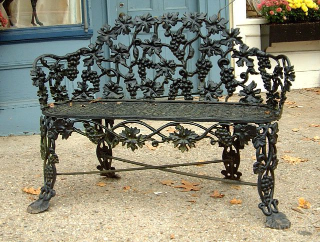 Antique Cast Iron Victorian Garden Lawn Bench In 2020 Intended For Widely Used 1 Person Antique Black Iron Outdoor Swings (View 7 of 20)