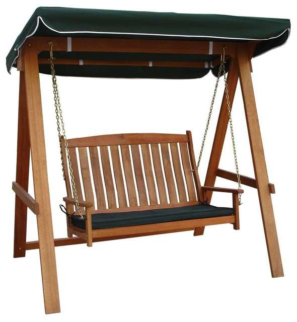 Avoca 2 Seat Porch Swing In Newest 2 Person Hammered Bronze Iron Outdoor Swings (View 10 of 21)