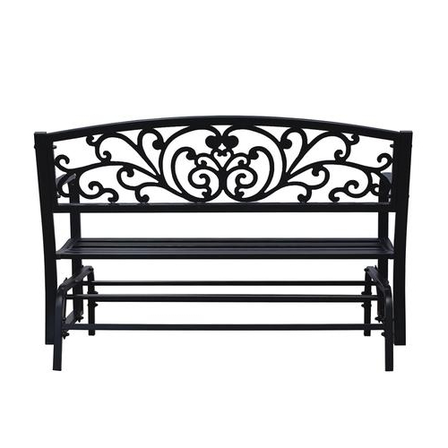 Backyard Creations® Steel Scroll Glider Bench At Menards® With Recent Low Back Glider Benches (View 12 of 20)