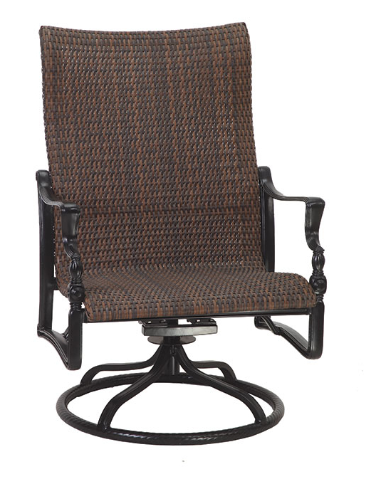 Bel Airgensun Luxury Cast Aluminum Patio Furniture Woven Within Most Recent Woven High Back Swivel Chairs (View 1 of 20)