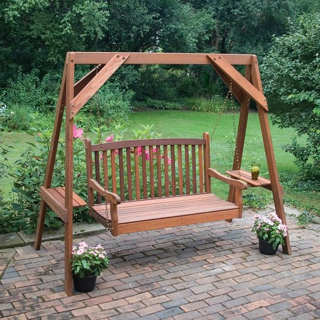 Best And Newest Hardwood Hanging Porch Swings With Stand For Wood Outdoor Swings For Adults – Rustyridergirl (View 4 of 20)