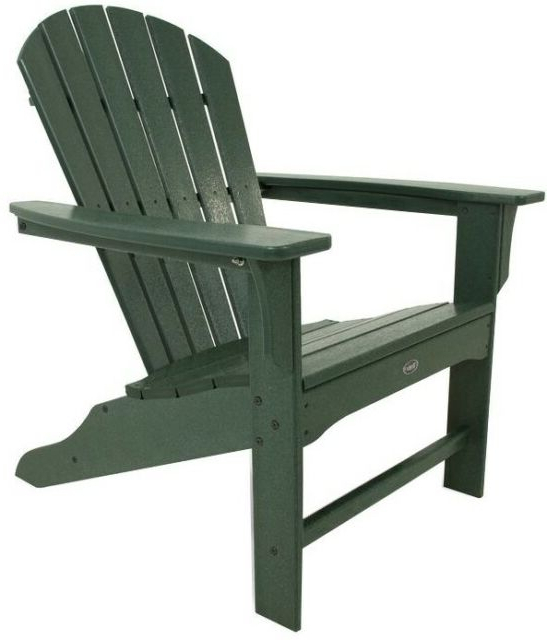 Best And Newest Outdoor Furniture yacht Club 2 Person Recycled Plastic Outdoor Swings Inside Trex Outdoor Furniture Cape Cod Adirondack Chair, Rainforest (View 7 of 20)