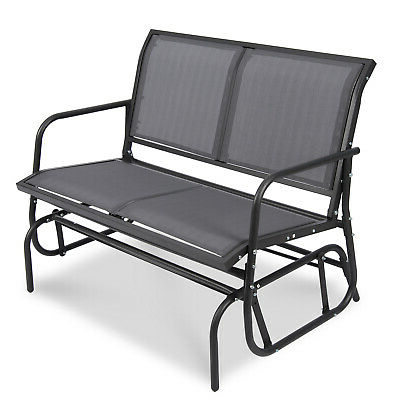 Best And Newest Patio Garden Glider 2 Person Swing Bench Rocking Chair Porch Outdoor Furniture (View 5 of 20)