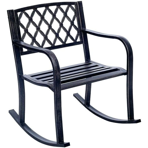 Best And Newest Rocking Glider Benches Intended For Outdoor Metal Rocker – Utahcorporateresponsibility (View 12 of 20)