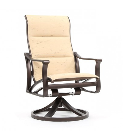 Best And Newest Tropitone Corsica Padded Sling High Back Swivel Rocker Pertaining To Padded Sling High Back Swivel Chairs (View 19 of 20)