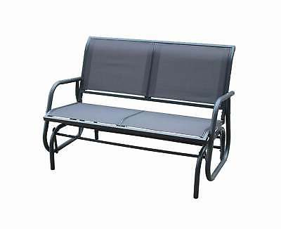 Best And Newest Twin Seat Glider Benches Regarding Charles Bentley Twin Glider Rocking Bench With Mesh Seat (View 10 of 20)