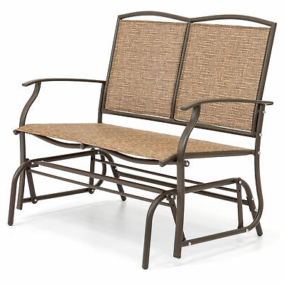 Best Choice Products 2 Person Loveseat Patio Glider Bench Inside Most Up To Date Indoor/outdoor Double Glider Benches (View 20 of 20)