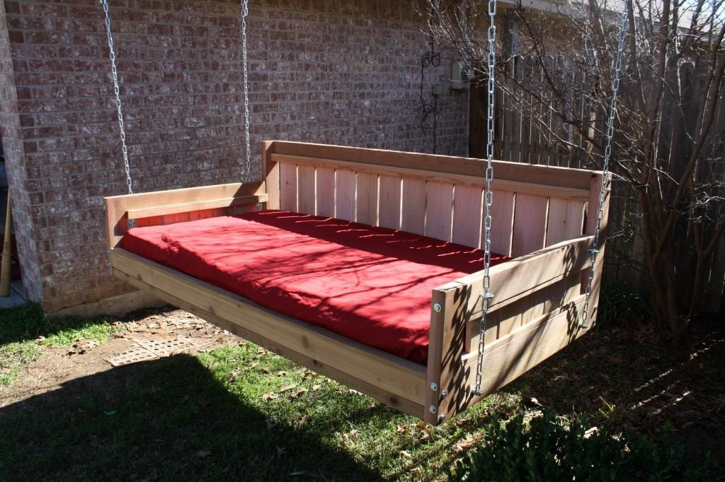 Brand New Cedar Daybed Swing In Country Style, Full Size For Recent Country Style Hanging Daybed Swings (View 2 of 20)