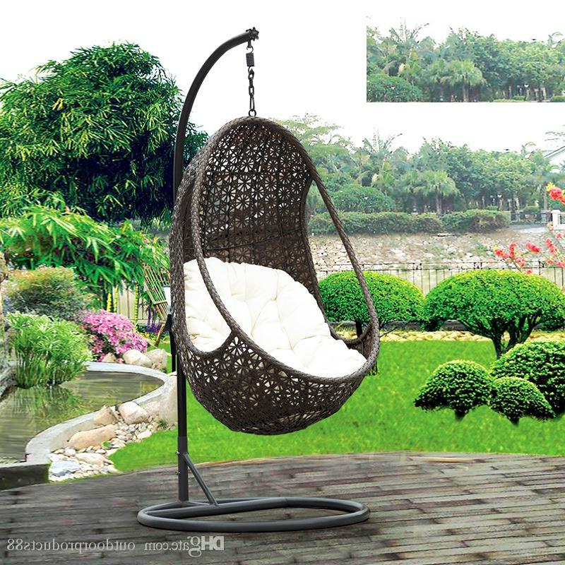 Brilliant Basket Swing Chair Bamboo Rattan Casual Balcony Pertaining To Preferred Rattan Garden Swing Chairs (View 7 of 20)