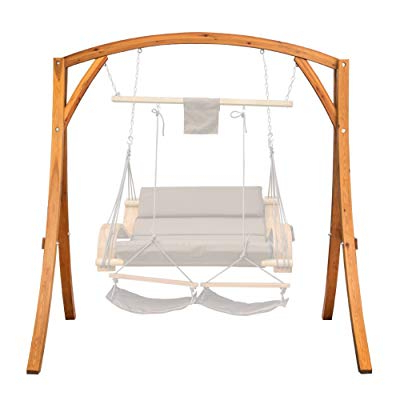Buy Lazy Daze Hammocks Deluxe Wooden Arc Frame Hammock Swing For Well Known Rosean Porch Swings (View 17 of 20)