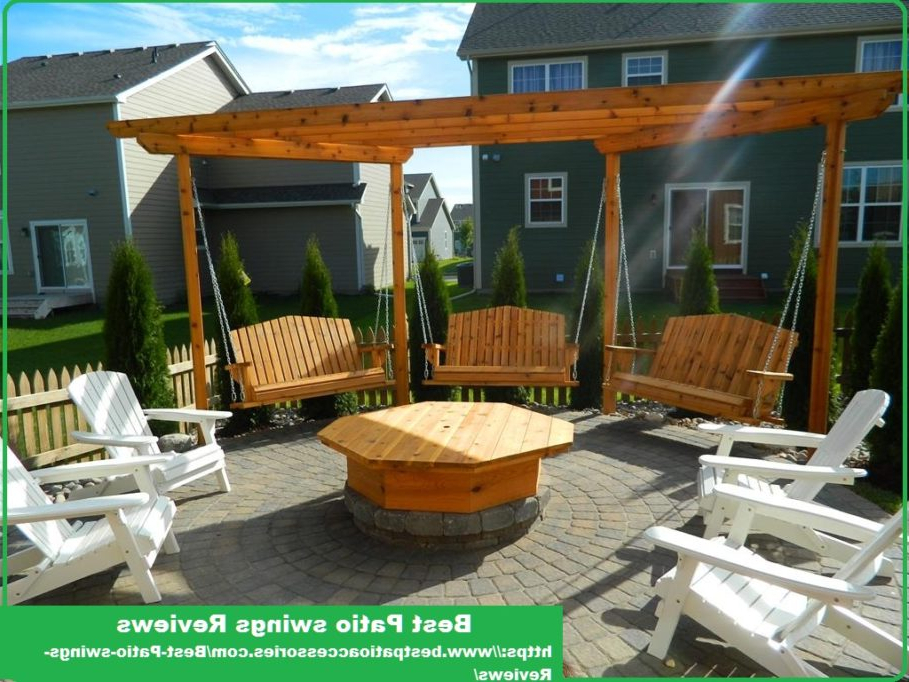 Canopy Patio Porch Swings With Pillows And Cup Holders With Regard To Famous Best Porch Swing Reviews (View 9 of 20)
