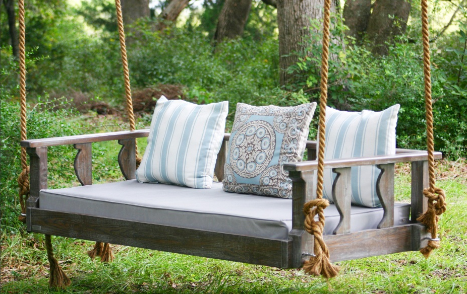 Canopy Patio Porch Swings With Pillows And Cup Holders With Regard To Most Recently Released Best Porch Swings Reviews (45+ Outdoor Swings) (View 8 of 20)