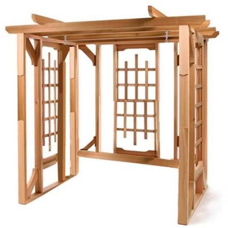Cheap Cedar Swing Sets, Find Cedar Swing Sets Deals On Line Regarding Trendy A4 Ft Cedar Pergola Swings (View 8 of 20)