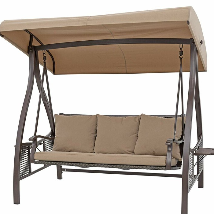 Chenault Outdoor Canopy Hammock Porch Swing With Stand Within Well Known Outdoor Canopy Hammock Porch Swings With Stand (Gallery 1 of 20)
