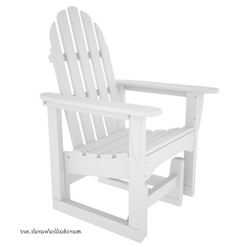 Classic Adirondack Glider Benches Within Preferred Polywood Adsgl 1wh Classic Adirondack Glider Chair White (View 11 of 20)