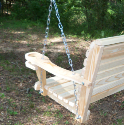 Classic Porch Swings In Famous La Swings Inc 4ft Cypress Classic Porch Swing – Lead Time 5 7 Business Days (View 14 of 20)