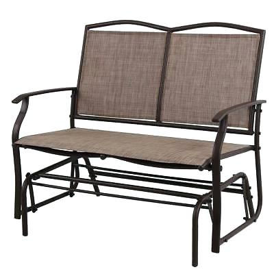 Cloud Mountain Patio Glider Bench Outdoor Cushioned 2 Person Intended For Well Known 2 Person Loveseat Chair Patio Porch Swings With Rocker (Gallery 11 of 20)