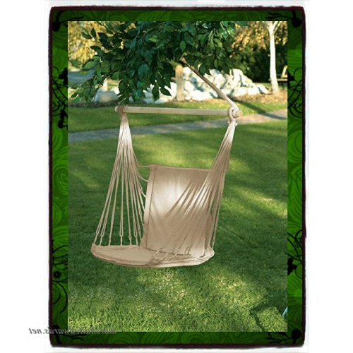 Cotton Porch Swings With Best And Newest Deluxe Air Hammock Hanging Patio Tree Sky Swing Chair (View 20 of 20)