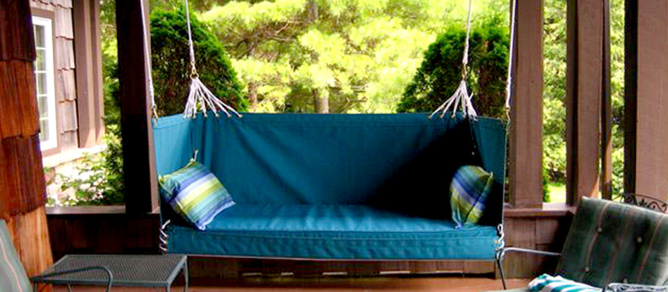 Cotton Porch Swings With Regard To 2020 Penobscot Bay Porch Swings (View 10 of 20)