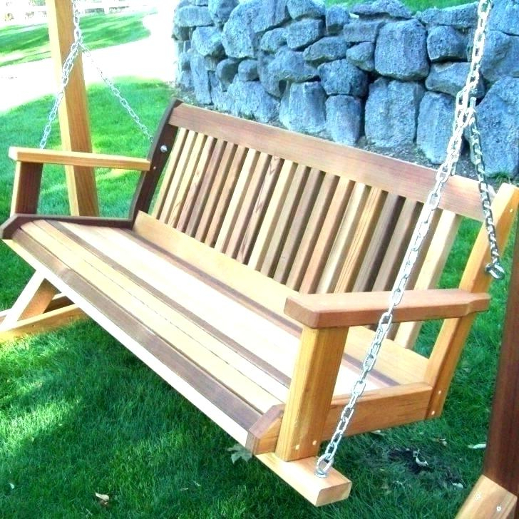 Current 5 Wooden Porch Swing – Solariz Intended For 2 Person Natural Cedar Wood Outdoor Swings (Gallery 11 of 20)