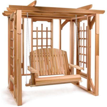 Current Cheap Cedar Swing Sets, Find Cedar Swing Sets Deals On Line Within A4 Ft Cedar Pergola Swings (Gallery 7 of 20)