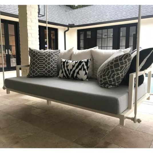Current Deluxe Cushion Sunbrella Porch Swings Inside Custom Outdoor Glider / Porch Swing Cushions – Patio Lane (View 9 of 20)