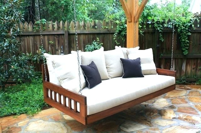 Current Outside Swing Chairs – Thebigm In Canopy Patio Porch Swings With Pillows And Cup Holders (View 20 of 20)