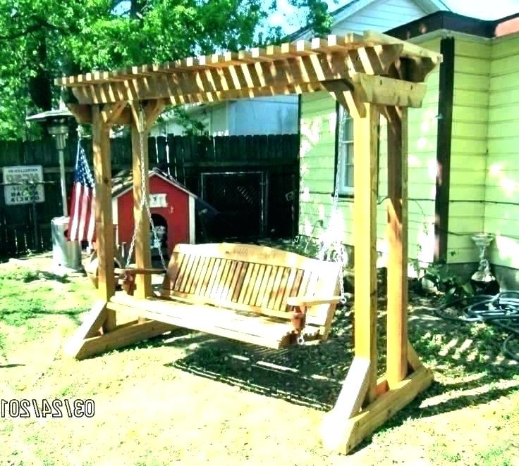 Current Pergola Porch Swings With Stand With Regard To Porch Swing Arbor – Thelsf.co (Gallery 13 of 20)