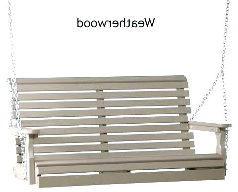 Current Polywood Porch Swing – Founderware.co Regarding Nautical Porch Swings (Gallery 9 of 20)