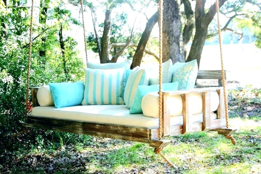 Day Bed Porch Swings Pertaining To Well Known Daybed Porch Swing Cushions – Shakiradecorating.co (Gallery 8 of 21)