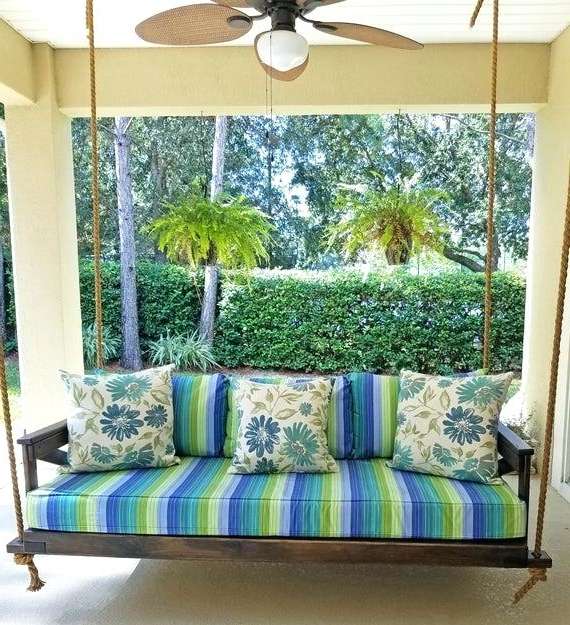 Daybed Porch Swings With Stand With Trendy Daybed Porch Swing – Jadethegreat (View 11 of 20)