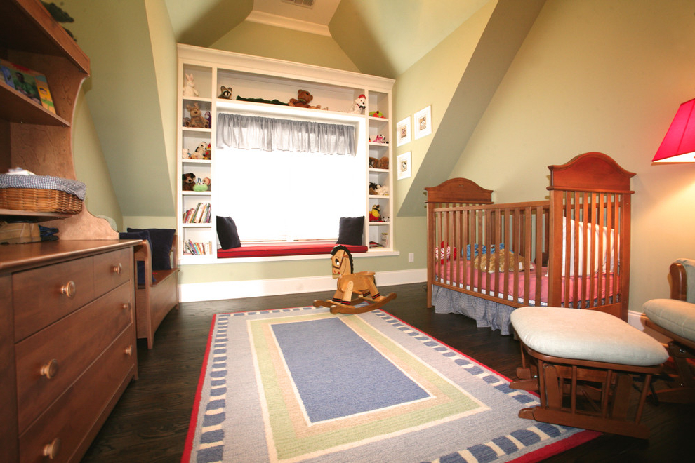 Dazzling Glider Bench In Nursery Traditional With Horse Barn For Most Popular Traditional Glider Benches (View 19 of 20)