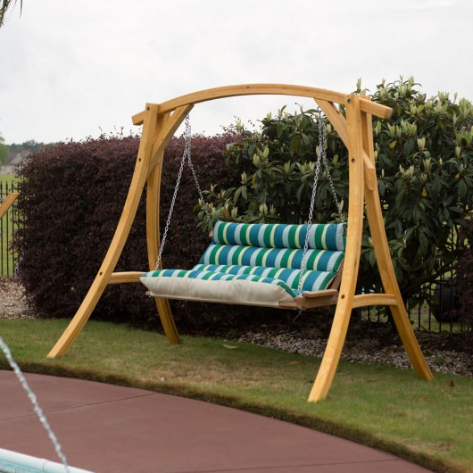 Deluxe Cushion Sunbrella Porch Swings Pertaining To Trendy Patio Seating Hatteras Hammocks Deluxe Sunbrella Cushioned (View 15 of 20)