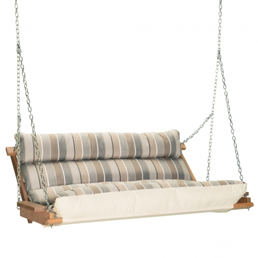 Deluxe Cushion Swing – Milano Char For Famous Deluxe Cushion Sunbrella Porch Swings (View 5 of 20)