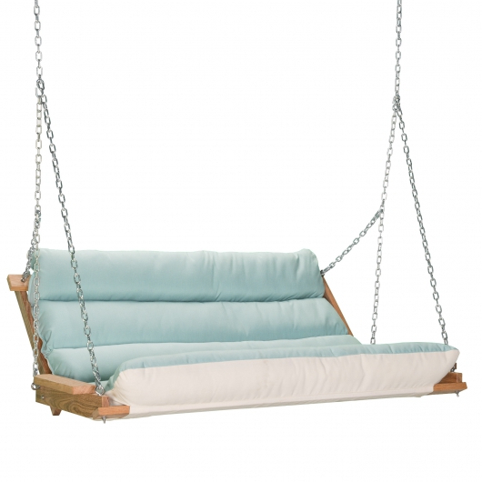 Deluxe Cushion Swing – Spectrum Mist Regarding Famous Deluxe Cushion Sunbrella Porch Swings (View 11 of 20)