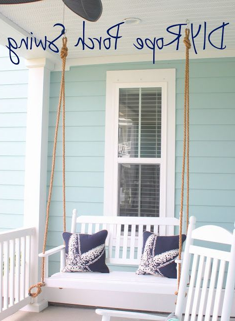 Diy Rope Porch Swing: Put Together The Perfect Hanging Seat Throughout Fashionable Hanging Daybed Rope Porch Swings (View 5 of 20)
