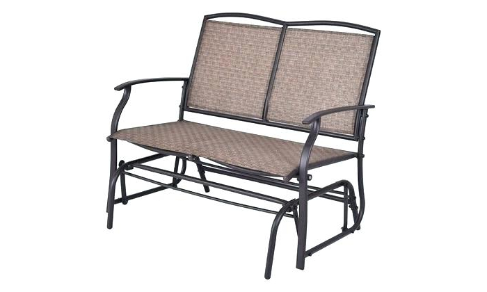 Double Glider Benches With Cushion Intended For Best And Newest Patio Double Glider – Sigpot (View 6 of 20)