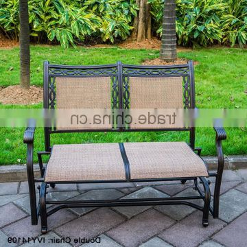 Double Glider Loveseats Intended For Trendy Porch Sling Aluminum Loveseat Glider/double Gliader Metal (View 20 of 20)