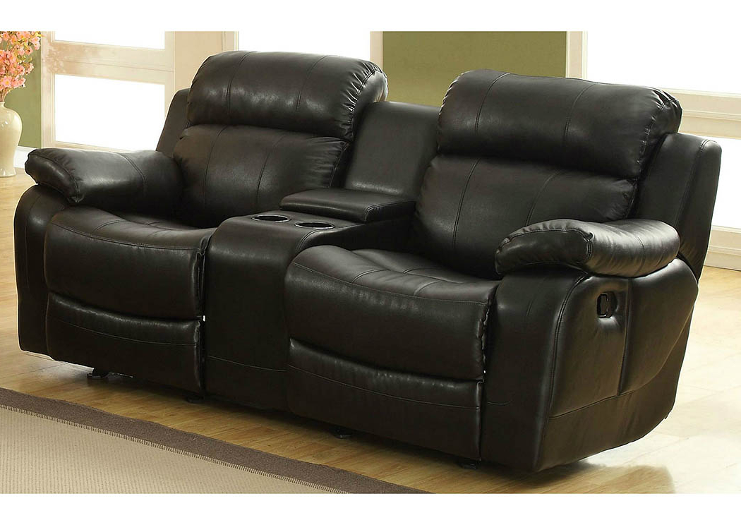 Double Glider Loveseats Regarding Current Nationwide Mattress & Furniture Warehouse Marille Black (View 7 of 20)