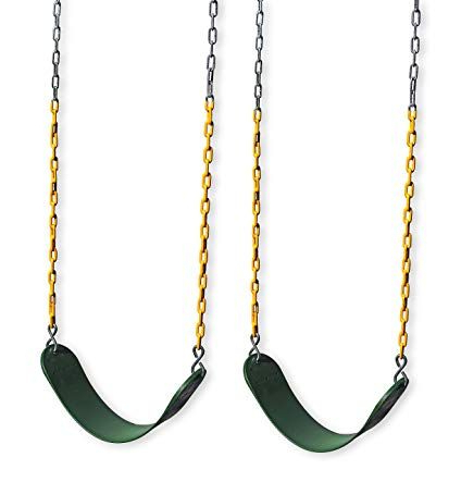 Eastern Jungle Gym 2 Outdoor Swing Seats For Playset Intended For Well Known Swing Seats With Chains (View 1 of 20)