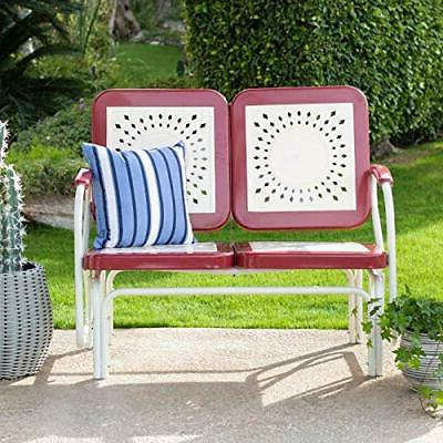Ebay With Trendy Metal Powder Coat Double Seat Glider Benches (Gallery 19 of 20)