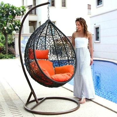 Egg Shaped Swing Chair – Nasties Pertaining To Latest Outdoor Wicker Plastic Tear Porch Swings With Stand (View 13 of 20)