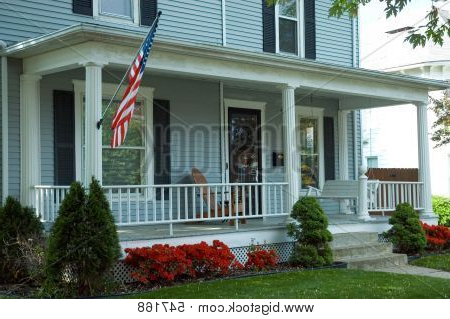 🔥 American Front Porch – 547168 Image & Stock Photo Throughout Most Recent American Flag Porch Swings (View 20 of 20)