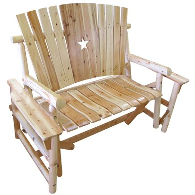 Famous Cedar Colonial Style Glider Benches In Millwood Pines Alaniz Star Glider Bench (View 8 of 20)