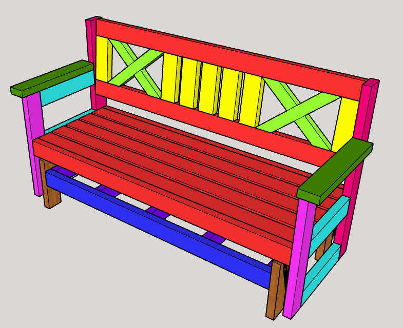 Famous Farmhouse Outdoor Glider Bench – Buildsomething With Low Back Glider Benches (View 19 of 20)
