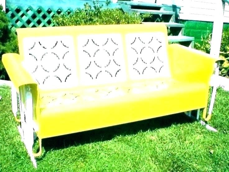 Famous Outdoor Retro Metal Double Glider Benches Intended For Old Metal Gliders – Urbanarea (View 18 of 20)
