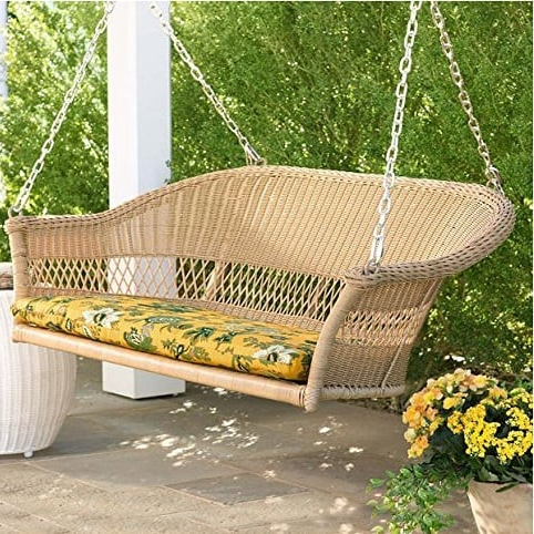 Famous Outdoor Wicker Plastic Tear Porch Swings With Stand Pertaining To 50+ Wicker Swings And Wicker Porch Swings – Beachfront Decor (View 16 of 20)